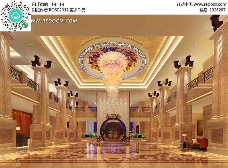 豪华酒店大堂装修设计效果图设计图片图片