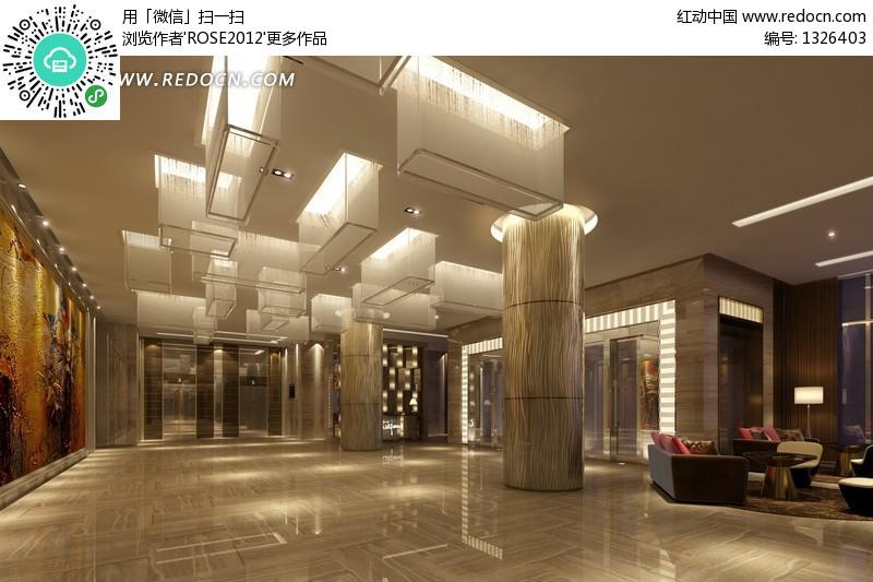 豪华酒店大厅装修设计效果图设计图片图片
