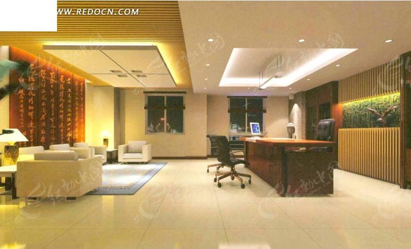 中式风格高层领导办公室效果图设计图片图片