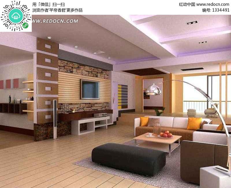 豪华现代客厅装饰效果图3dmax模型素材图片高清图片