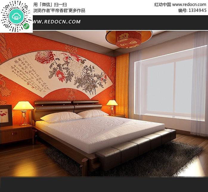 中式风格床头背景3dmax模型 [max]图片