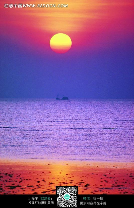 【关于大海、沙滩、夕阳的诗】