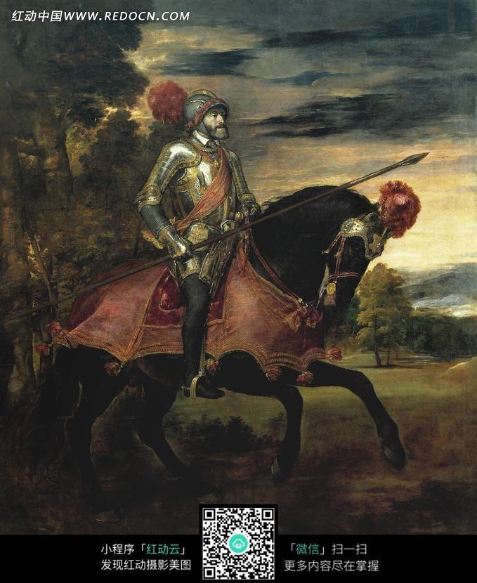 骑马的外国士兵油画图片 编号 1351733 书画文字 文化艺