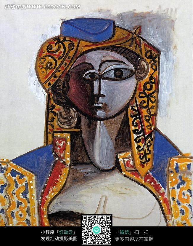 人物脸部抽象画图片 传统书画 吉祥图案 艺术图片下载 ...