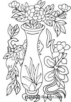 简笔画 花瓶,青花瓷花瓶简笔画,花瓶里的花简笔画,花瓶简笔画图,