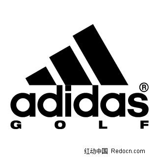 Adidas Golf英文logo设计矢量图 编号 1403909 行业标志 标志 图标 矢