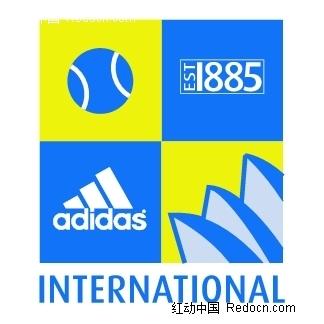 Adidasinternational英文logo设计 标志 LOGO 图标矢量图下载 编号