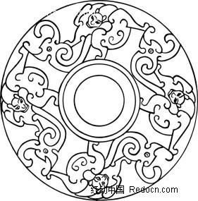 动物组成的圆形图案内容|动物组成的圆形图案版面设计