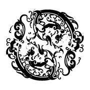 黑白欧美古代花纹专辑图片