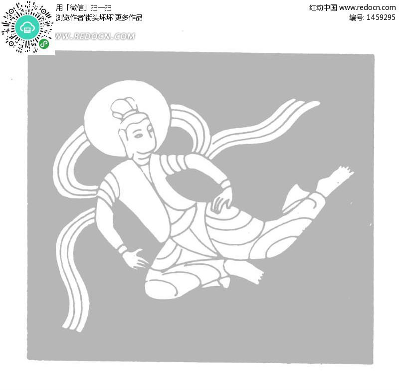 奔月嫦娥矢量图 1459295 传统图案 艺术文化
