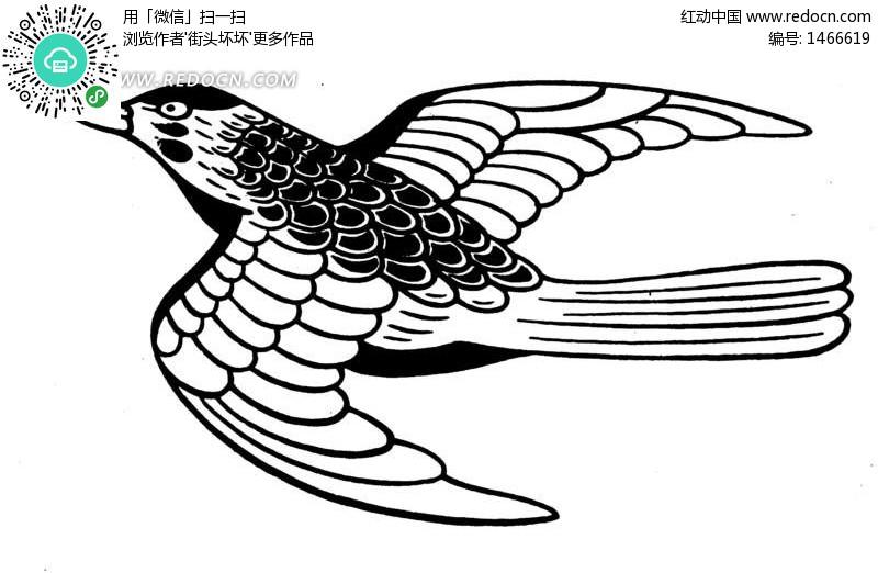 一只飞翔的小鸟