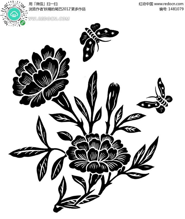 手绘蝴蝶黑白装饰画,蝴蝶图片 -装饰画鱼的花纹 鱼线描装饰画图片 图片