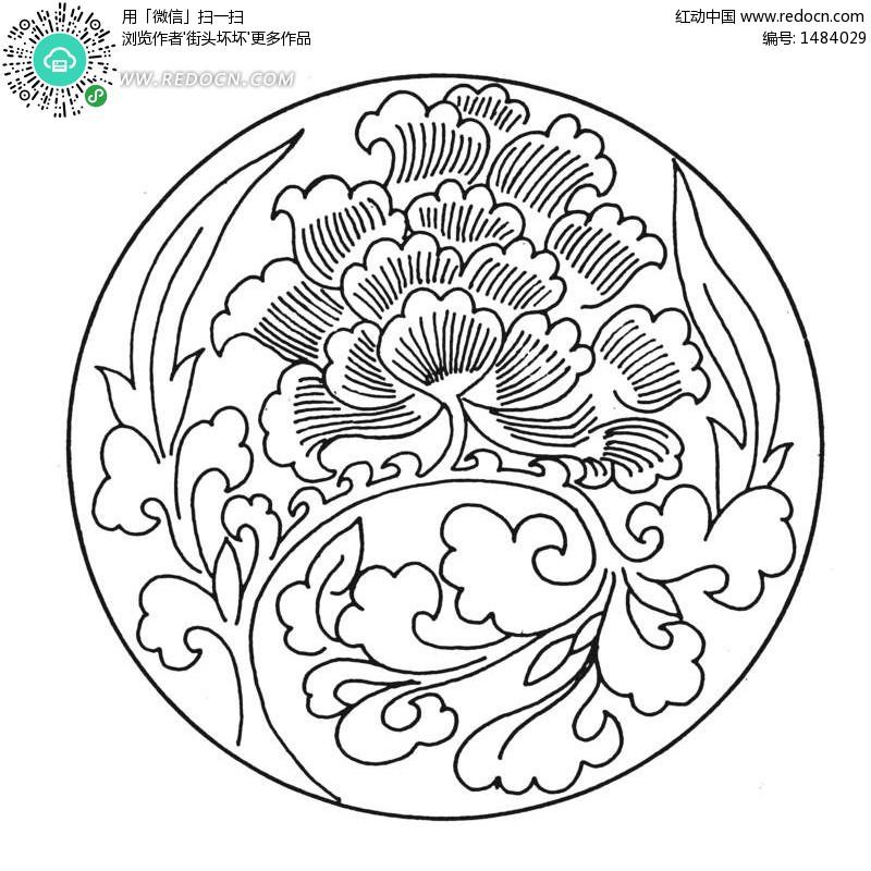 纹样图案 图,黑白花卉适合纹样图案,花卉纹样设计,四方连续花-图片