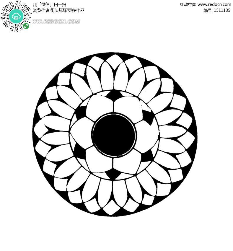 用圆可以设计哪些漂亮图案图片