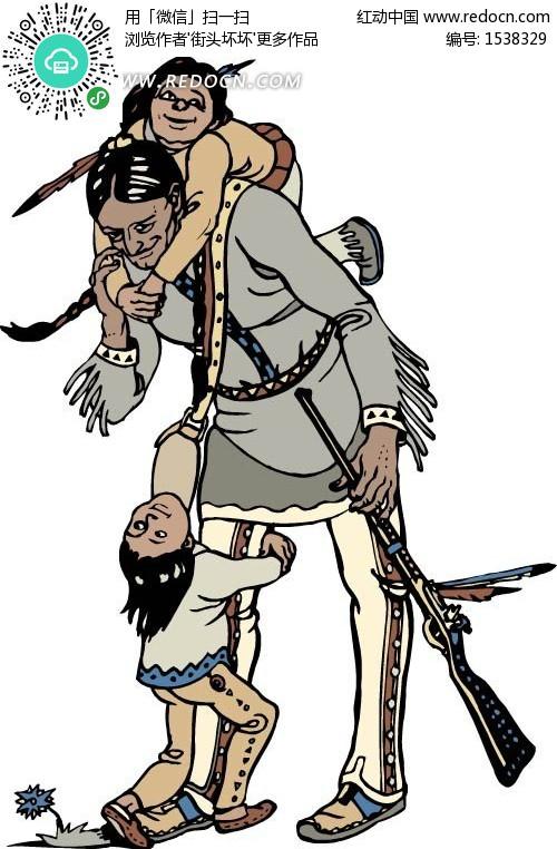 印第安人和小孩》 [eps 298.11 kb]
