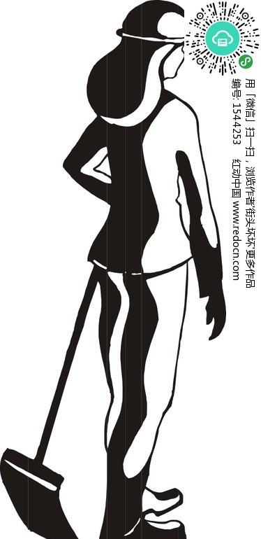清洁工人卡通图片_清洁工卡通形象_工人卡通画_工人 ...