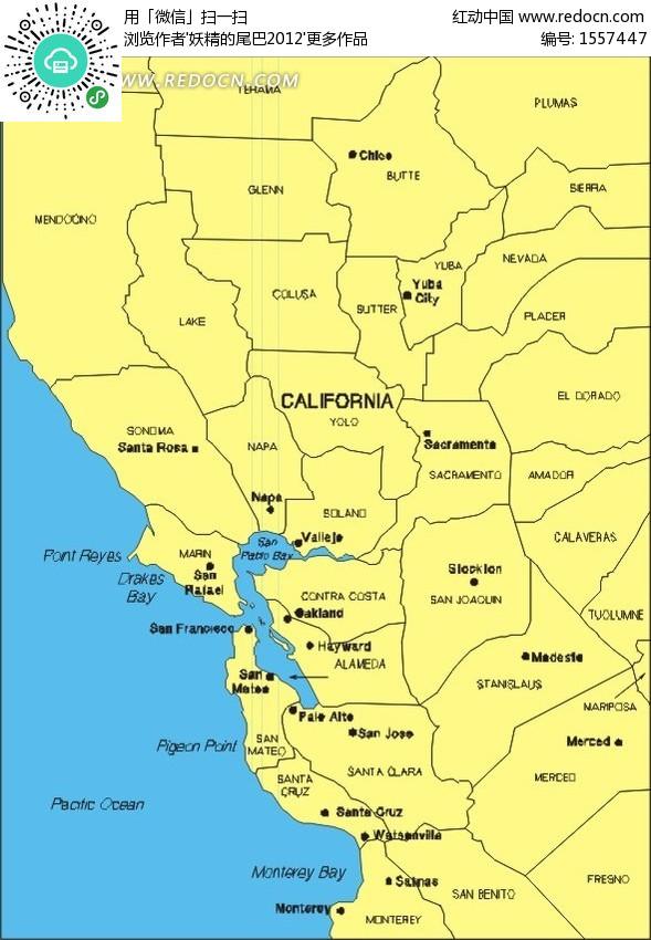 加利福尼亚地图-生活百科