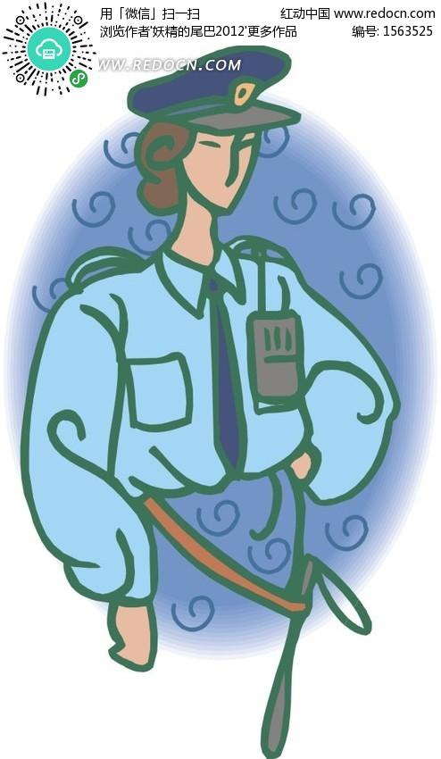 美女警察矢量图 1563525 卡通形象