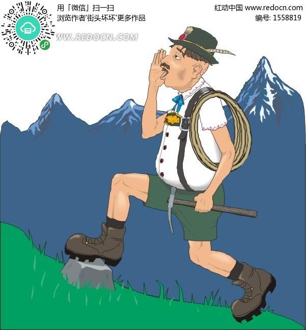 登山的中年男人 生活百科 矢量素材下载 编号 1558819