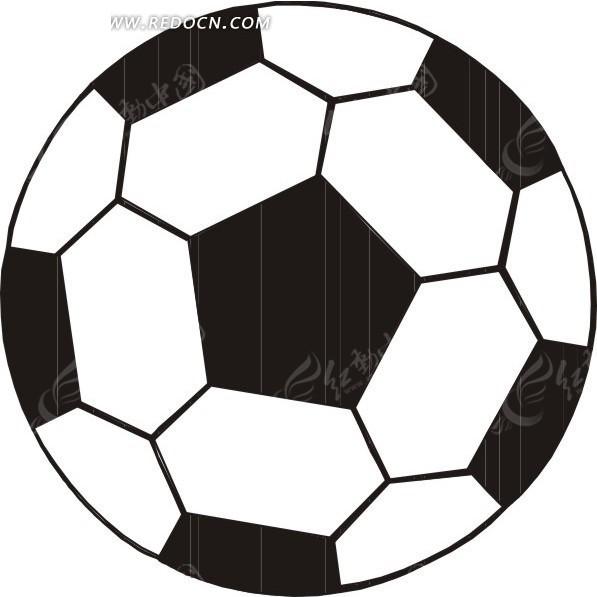 足球矢量图_