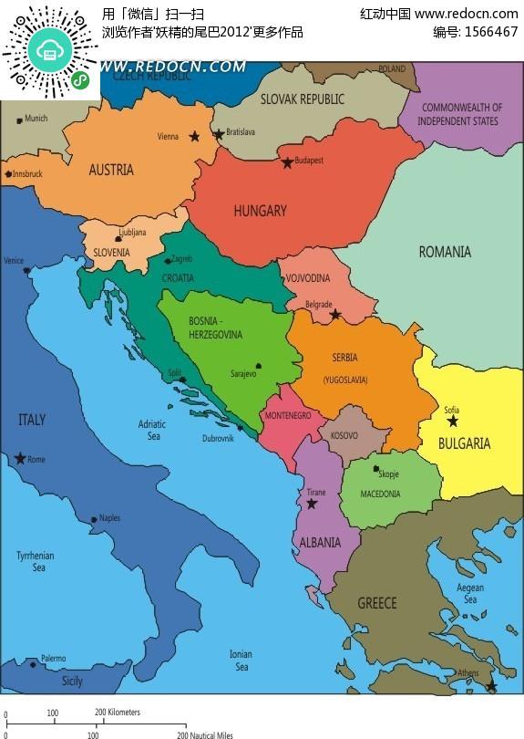 欧洲地图中文版图片
