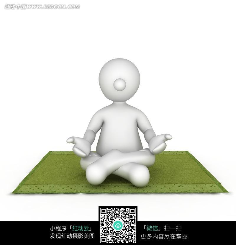 盘腿打坐的人偶图片-人物图片素材|图片库|图库下载