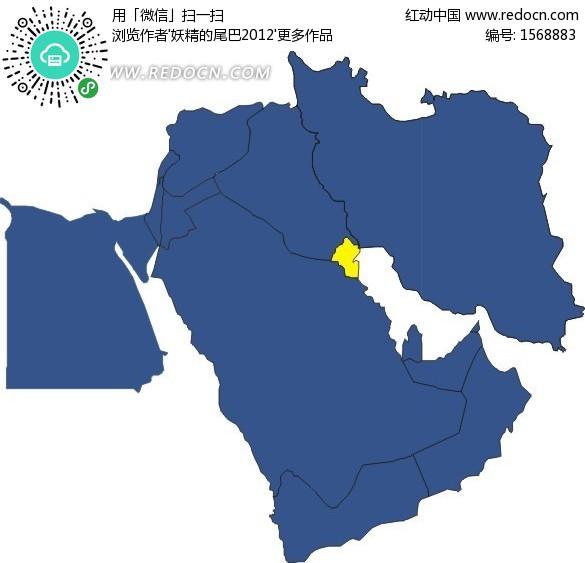 阿拉伯半岛上的国家 科威特矢量图 编号 1568883 办公学