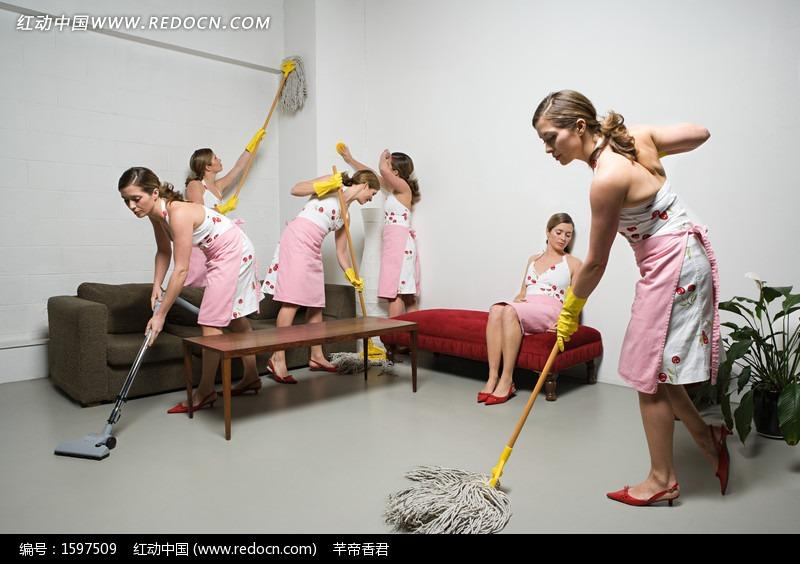 干家务活的美女主妇图片 人物图片素材 图片库 图库