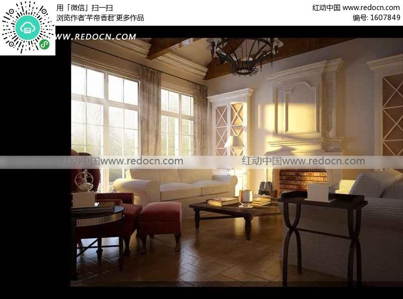 欧式壁炉装饰客厅3dmax模型 3d模型下载 3d模型素材库高清图片