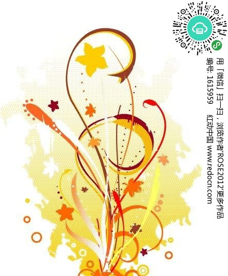 简约花草手绘素材 矢量花纹 矢量花边素材下载 1615959