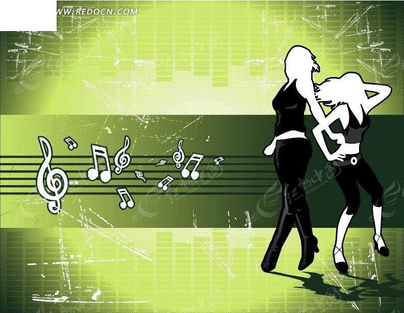 跳动的音符素材 跳动的音符ppt素材 跳动音符免抠素材