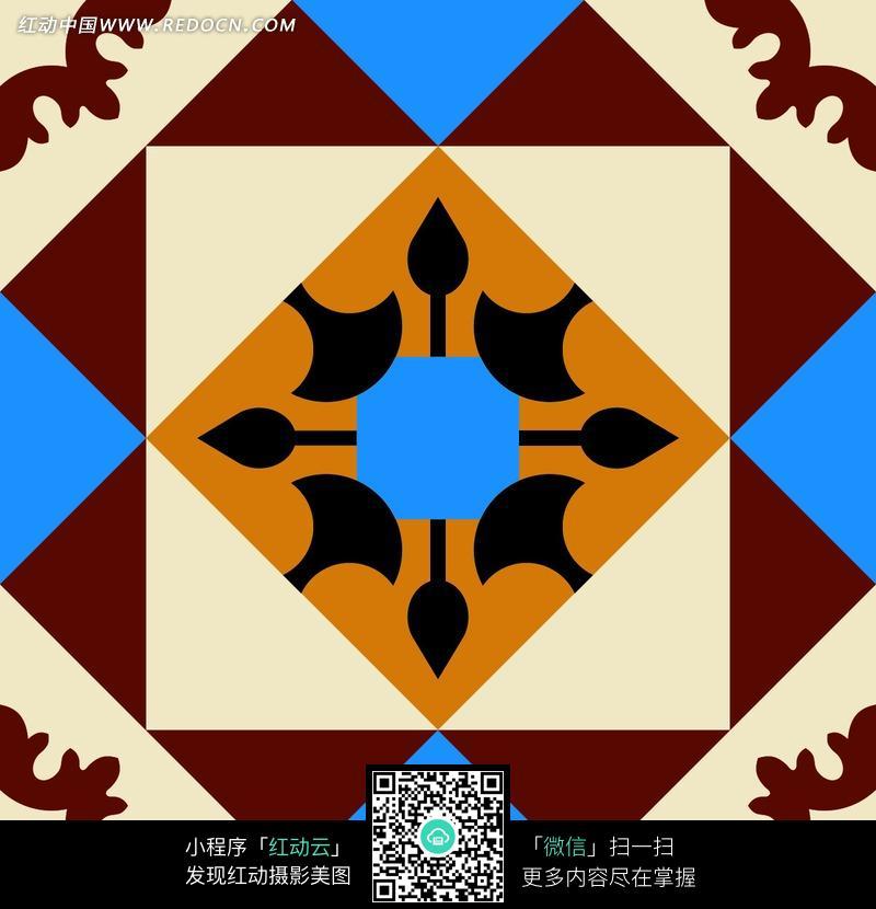 几何图形拼接的图案素材