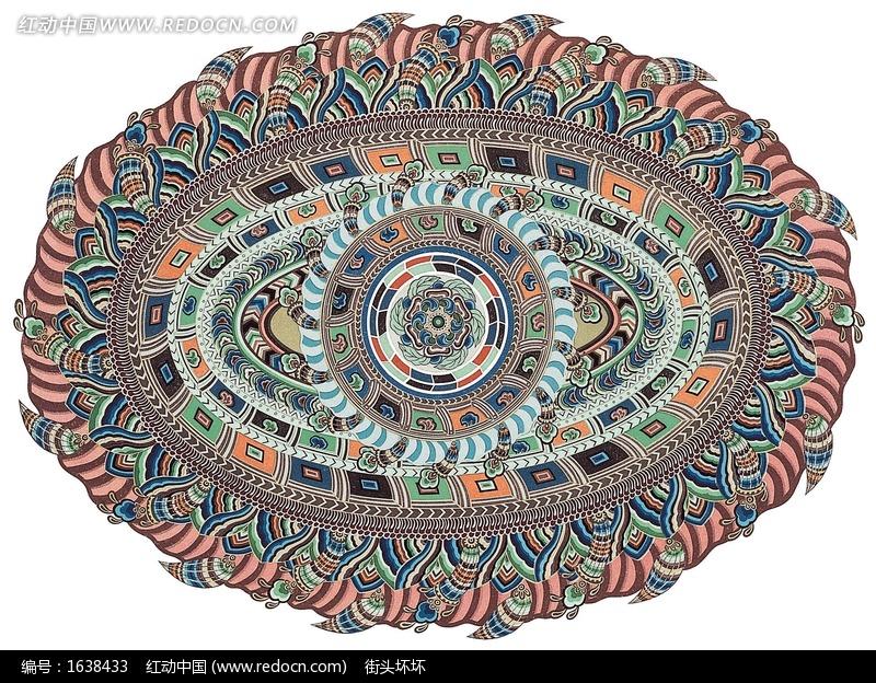 藏式花纹花边模板下载 藏式花纹花边图片下载 花纹矢量素-藏式花纹