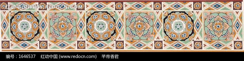 藏式花纹的长方形花边图片 1646537 背景花边