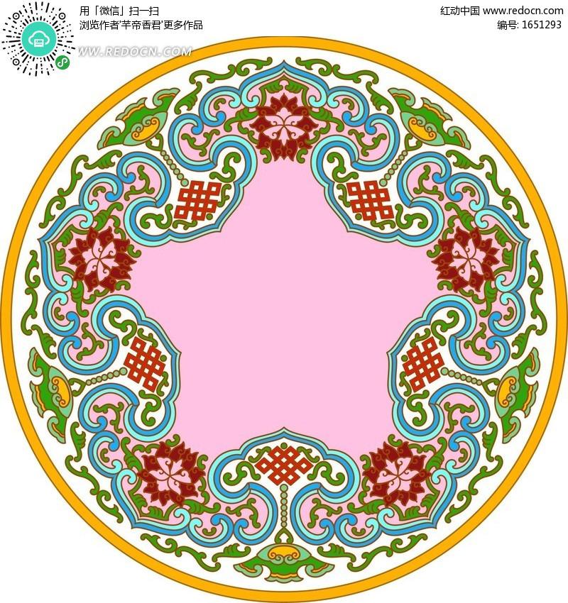 环里的古典花纹花边图案PSD素材