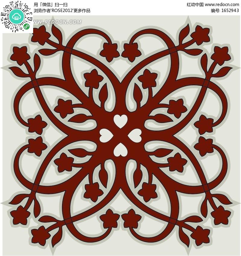 平移图形美丽图案美丽的平移图案利用平移设计美图片