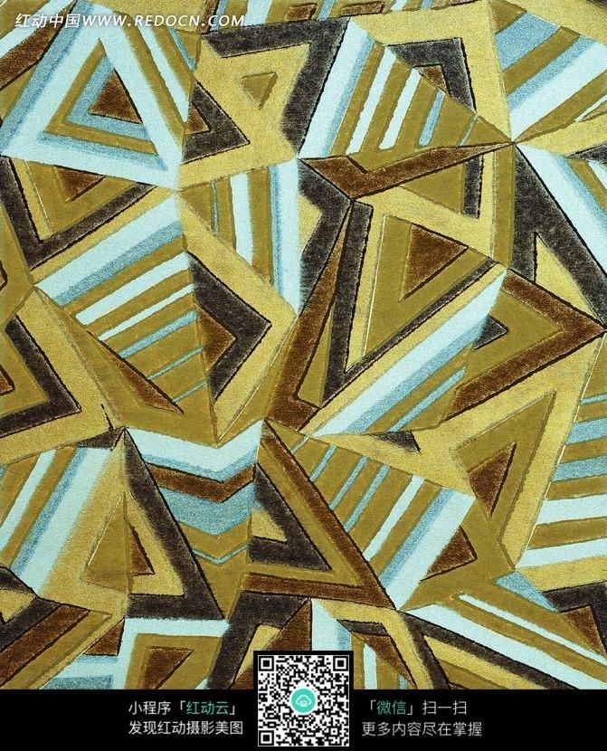抽象的三角形图案设计图片-抽象三角形图案 抽象图案 三角形抽象图
