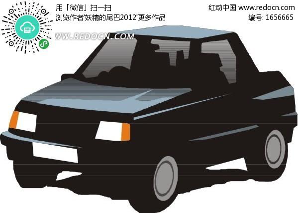 手绘汽车 蓝色吉普车矢量图 编号 1656665 交通工具 现代科技 矢量素材高清图片