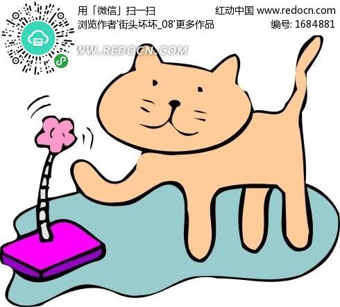 儿童手绘可爱的小猫咪