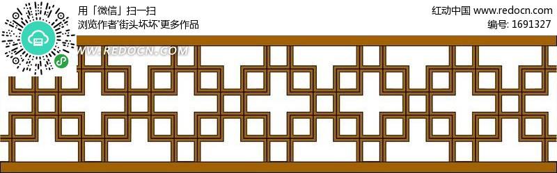 经典的中式窗户图案psd分层素材(编号:1691327)_边框图片