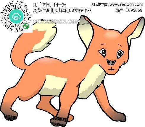 手绘一只可爱的小狐狸