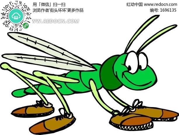 关键词:小昆虫虫子鞋子可爱翅膀手绘绘画卡通