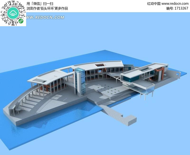 码头设计_码头设计手绘图_塘屿岛的码头