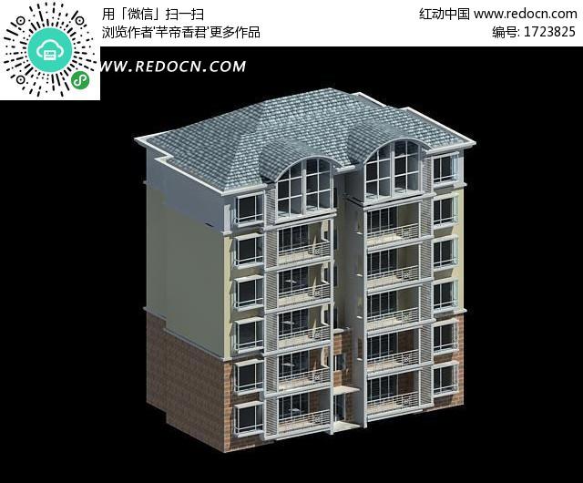 欧派高档住宅小区房屋3d模型-3D模型下载 3D