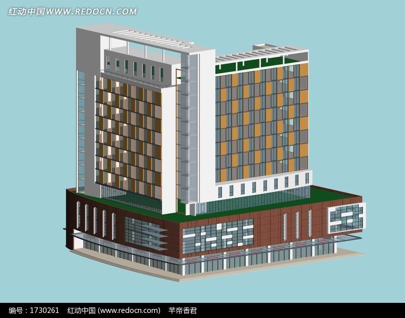 公共建筑商业大厦3D模型