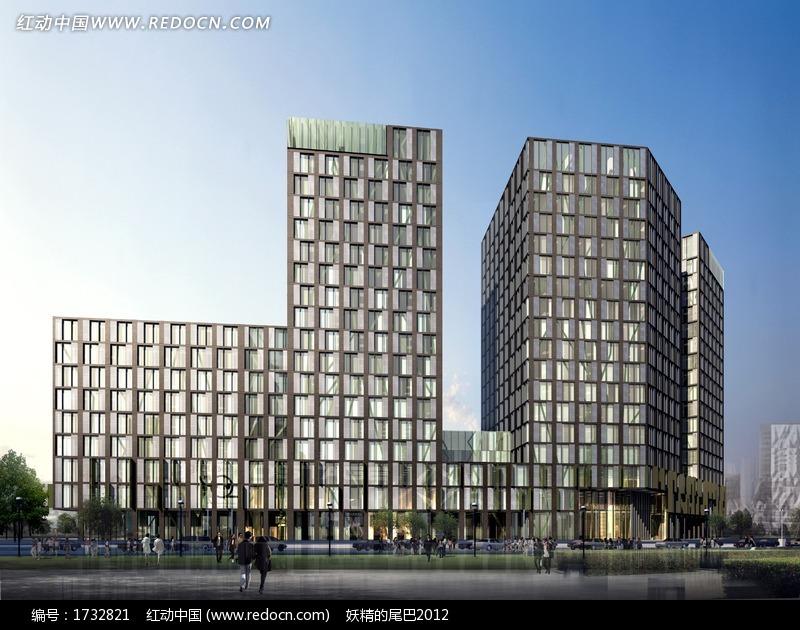 高层商业楼效果图高清图片