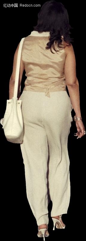 背着书包长指甲的美女背影图片(编号:1735437)
