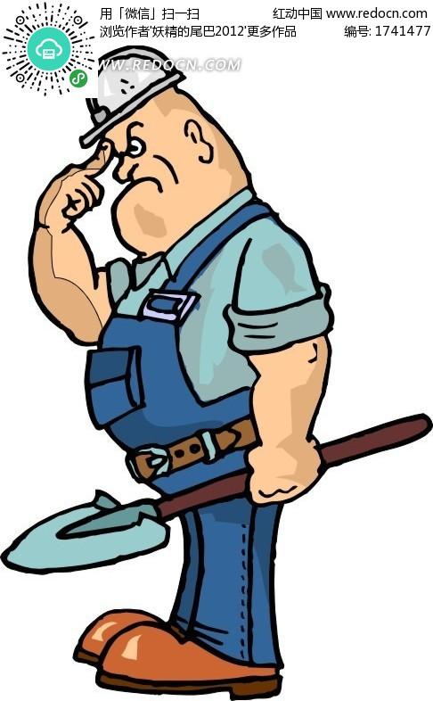 石油工人卡通_卡通简笔画_卡通情侣头像吧萌呆_卡通猫 - 黑马素材网