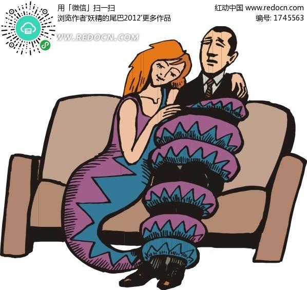和美女蛇设计图片