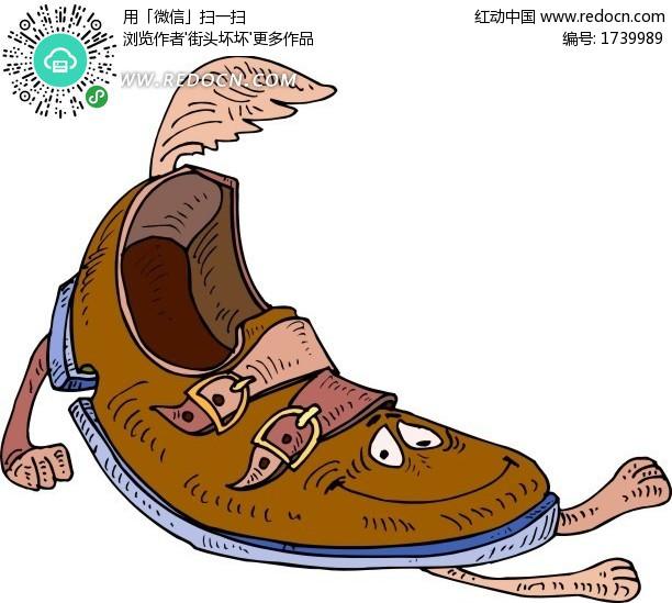 鞋子卡通人物设计图片